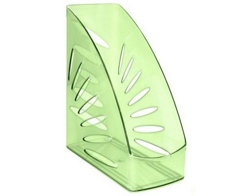 Лоток для бумаг вертикальный Тропик тонированный зеленый