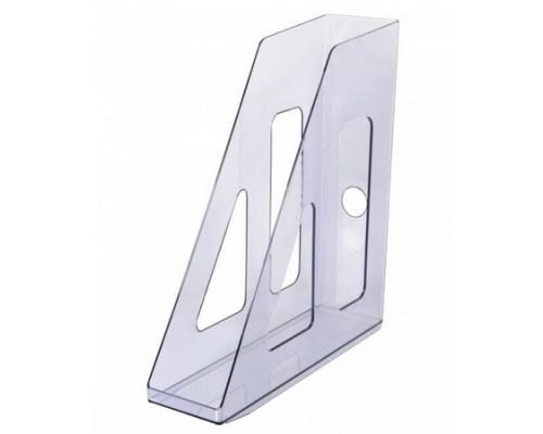 Лоток для бумаг вертикальный Актив тонированный серый