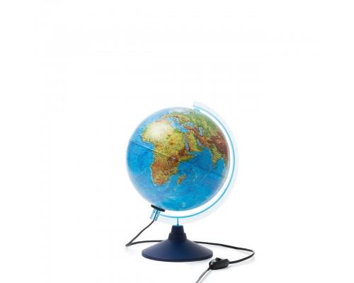 Глобус физико-политический d250мм с подсветкой ИНТЕРАКТИВНЫЙ