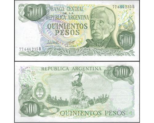 БЕЗ СКИДКИ Банкнота 500 песо Аргентина 1977-1982 KR