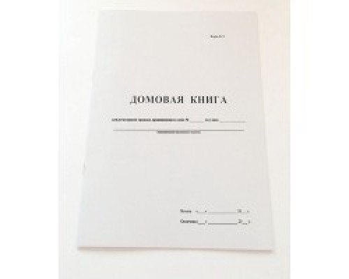 Домовая книга А4 16 листов