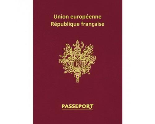 "Записная книжка А6 16 листов ""Premium"" Паспорт Франция"