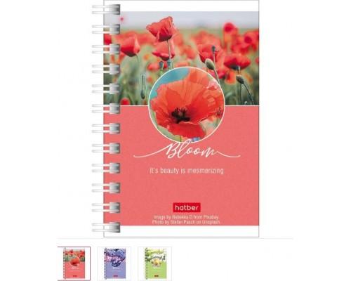 Записная книжка А7 80 листов на спирали Красота цветения