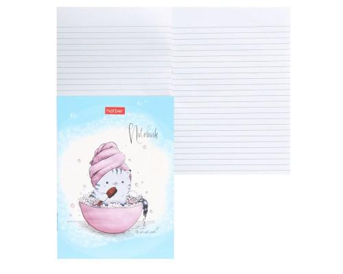 Записная книжка А6 24 листа Приключения кота Пирожка (линия)